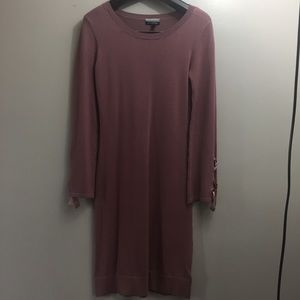 Allison Brittney Long Sleeve Mauve Dress. Small